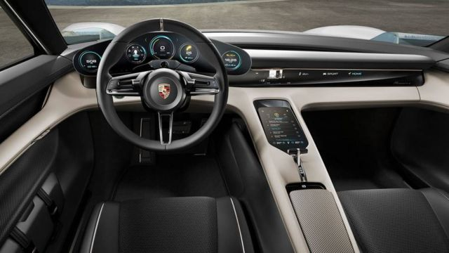 All-electric four-door Porsche Mission E (4)