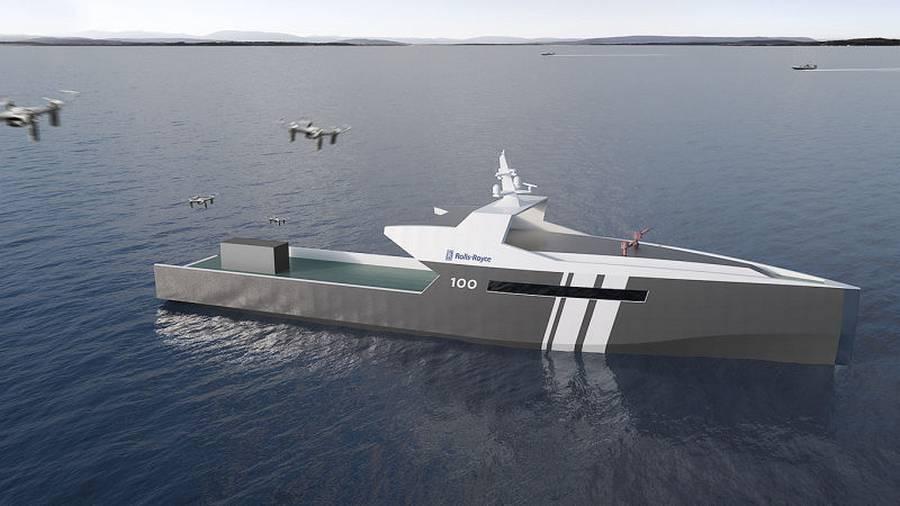 Rolls-Royce autonomous Patrol Ship concept