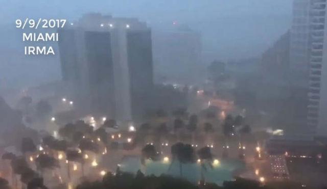 Miami hit by Irma Hurricane