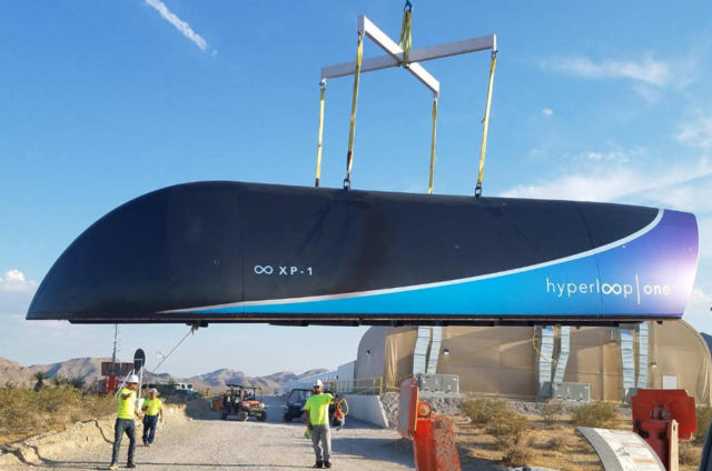 Hyperloop One pod