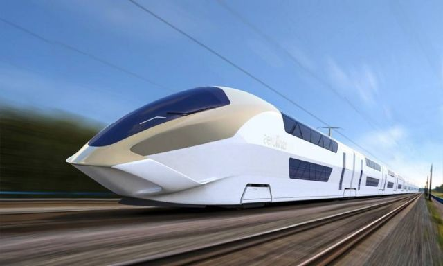 AeroLiner3000 double-decker high-speed train
