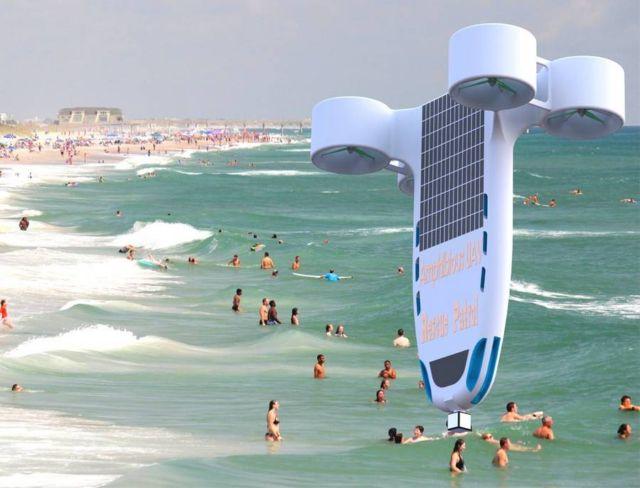 Amphibious Joint-lifeguard UAV