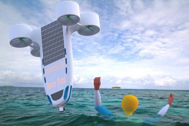 Amphibious Joint-lifeguard UAV (4)