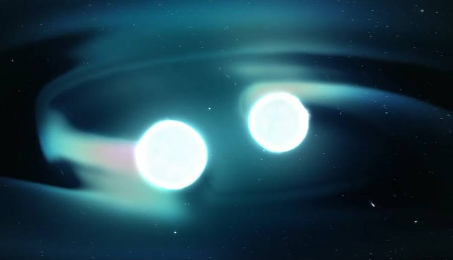 Blast of Light and Gravitational Waves in this amazing video