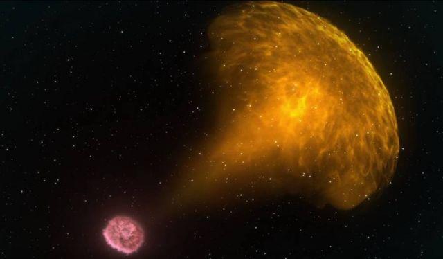 Blast of Light and Gravitational Waves