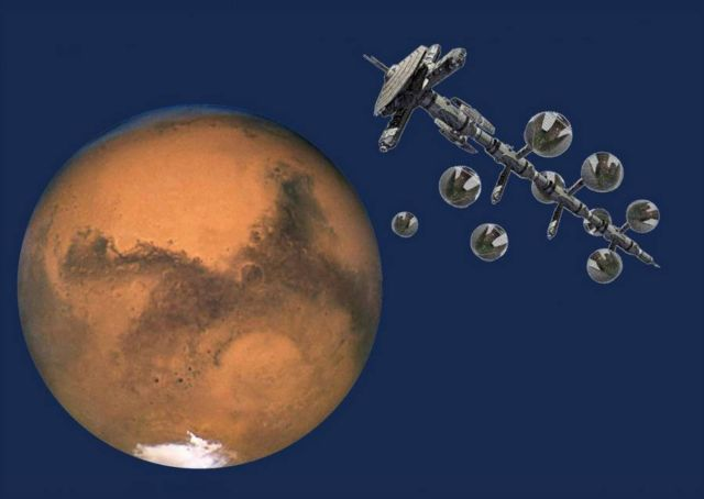 Domed Mars colony with Vertical Forests (2)