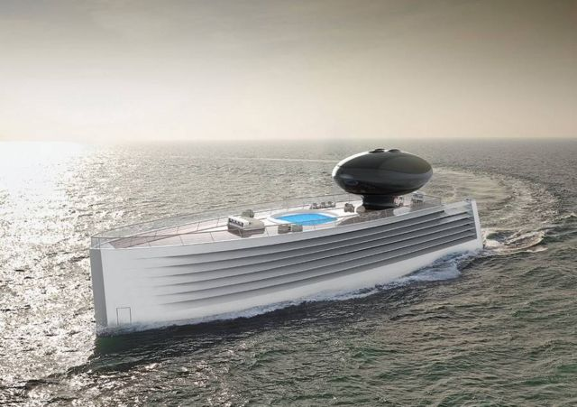 EAU concept electric Luxury Yacht