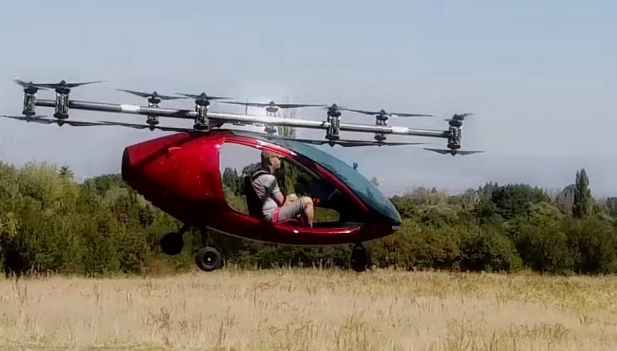 Passenger Drone First Manned Flight (6)