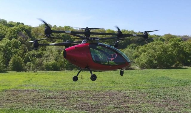 Passenger Drone First Manned Flight (5)