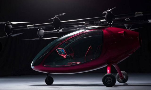 Passenger Drone First Manned Flight (2)