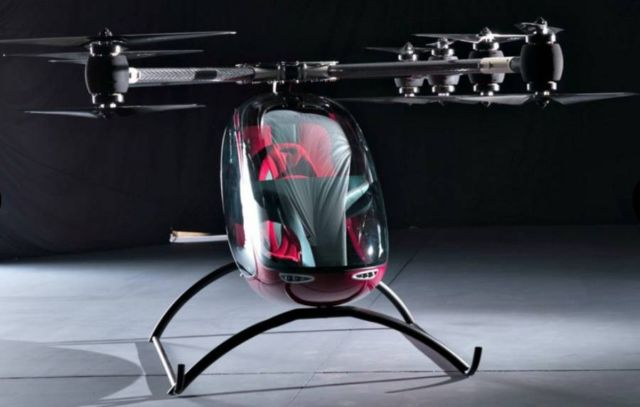Passenger Drone First Manned Flight (1)