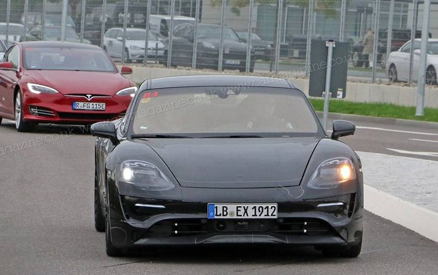 Porsche Mission E car gets spotted (4)