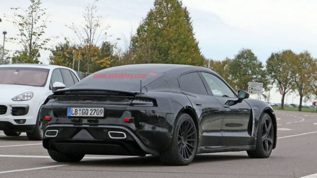 Porsche Mission E car gets spotted (3)