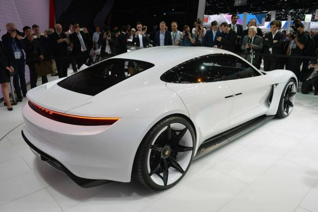 Porsche Mission E car gets spotted (2)