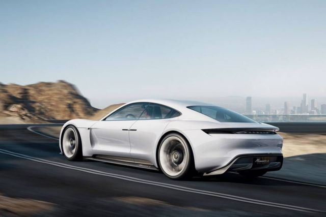 Porsche Mission E car gets spotted (1)