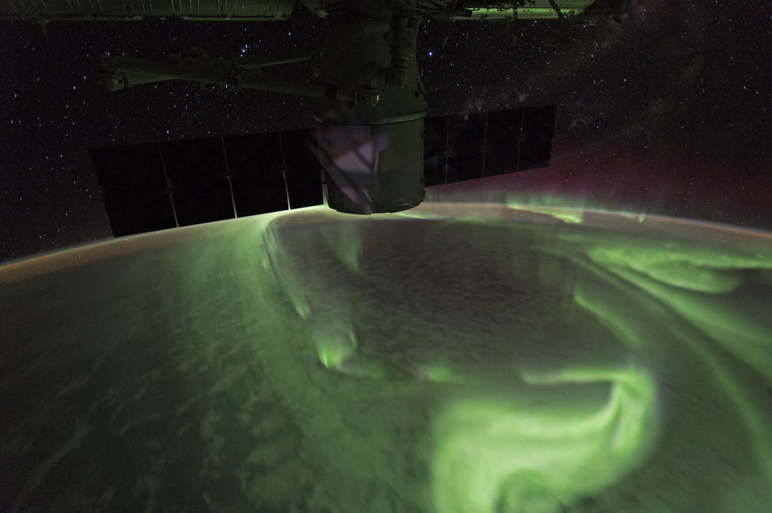 Southern Lights from Space Station