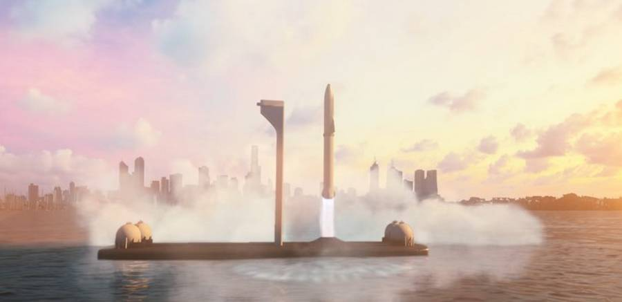 SpaceX BFR Intercontinental Rocket (4)