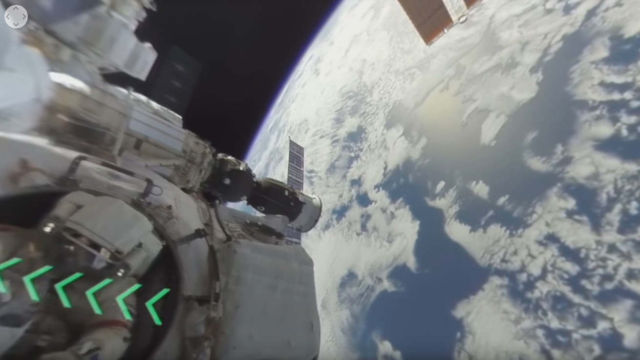 Spacewalk filmed in 360 for the first time