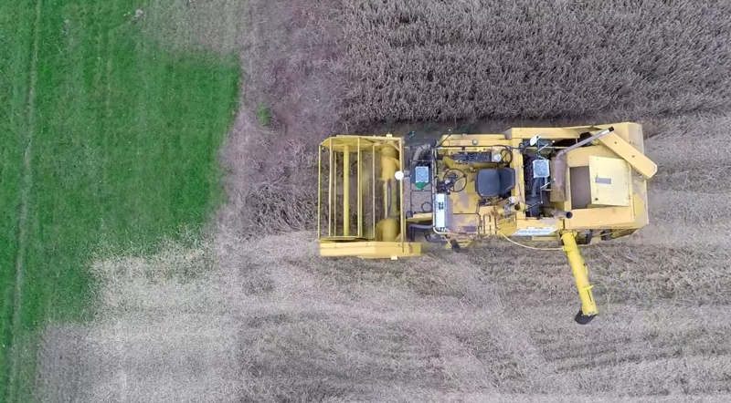 The Hands Free Hectare harvest