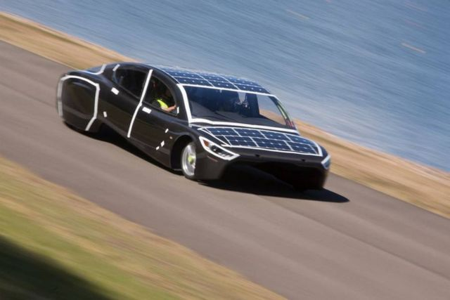 Sunswift Violet sleek four-seat car