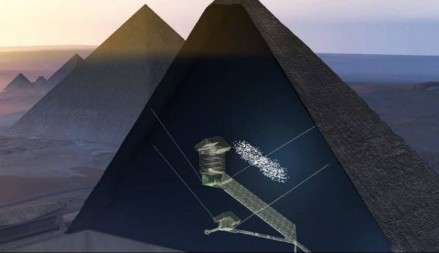 A Hidden Chamber in the Great Pyramid of Giza discovered