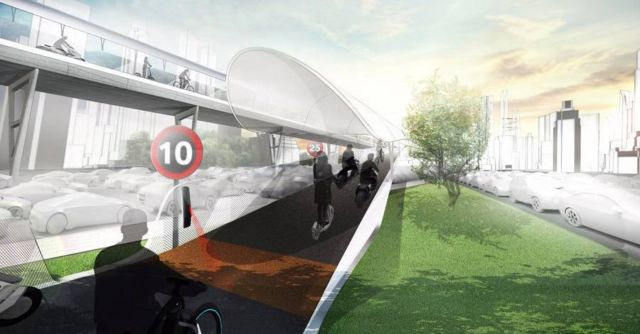 BMW proposes zero-emission Elevated roads (2)