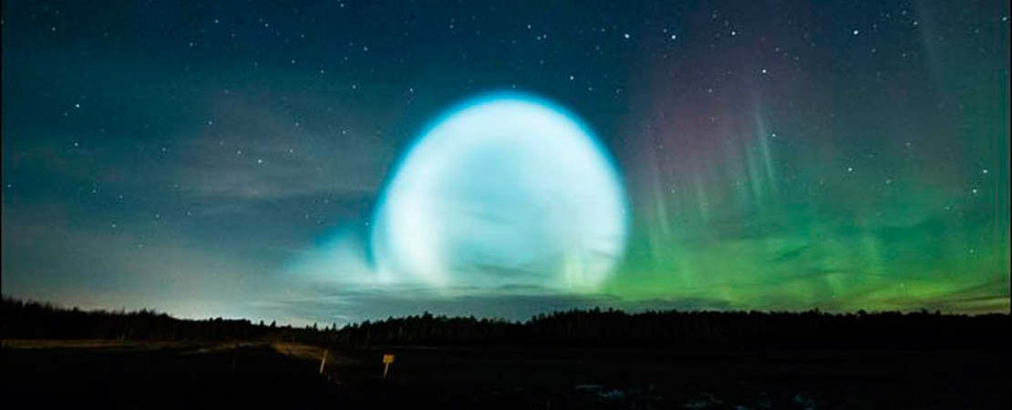 Enormous Glowing Ball over Northern Siberia
