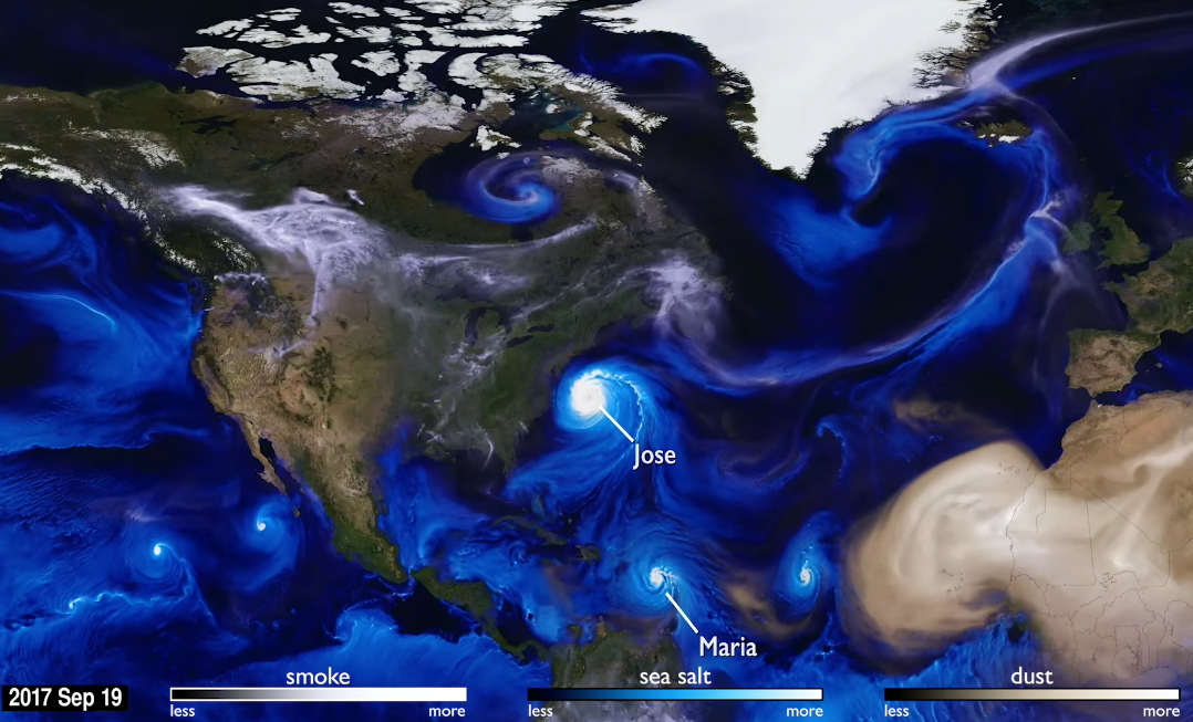 Hurricanes and Aerosols Simulation – video