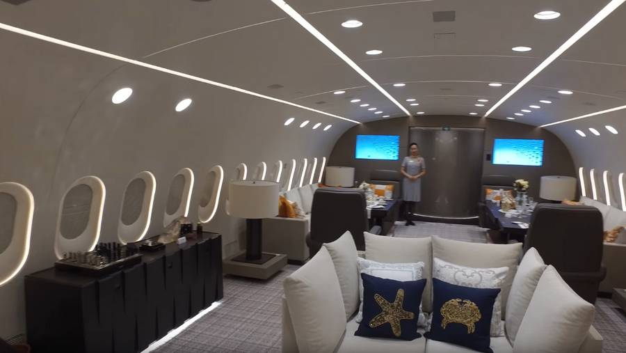 Inside the only Private Boeing 787 Dreamliner