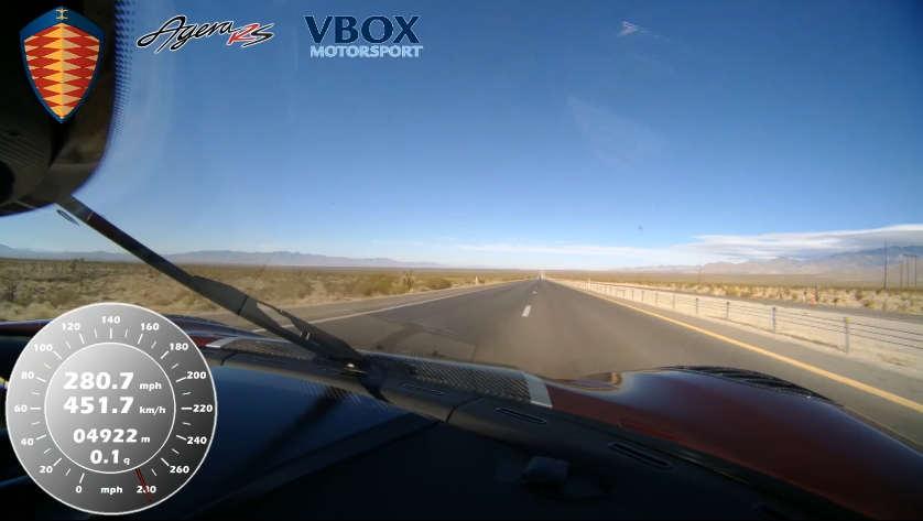 Koenigsegg Agera RS hits 284 mph