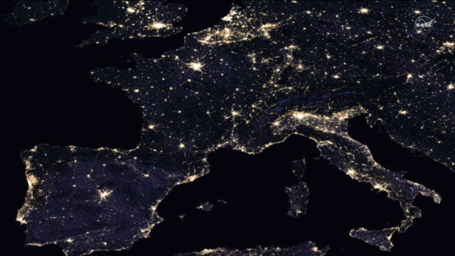 Europe's Light Pollution
