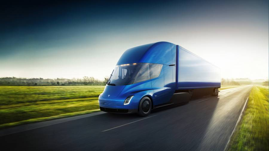 New Electric Tesla Semi Truck