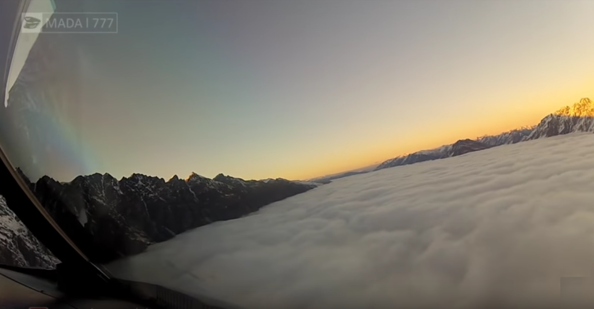 Spectacular View Flying over New Zealand