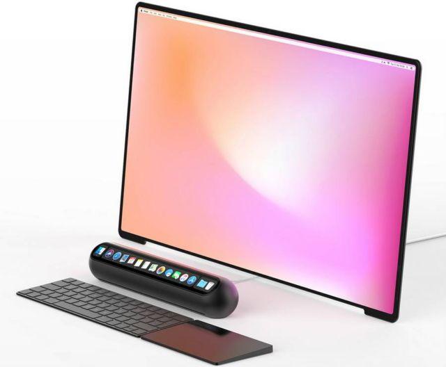 Taptop computer concept
