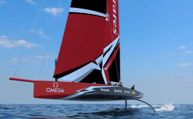 The America's Cup amazing AC75 boat