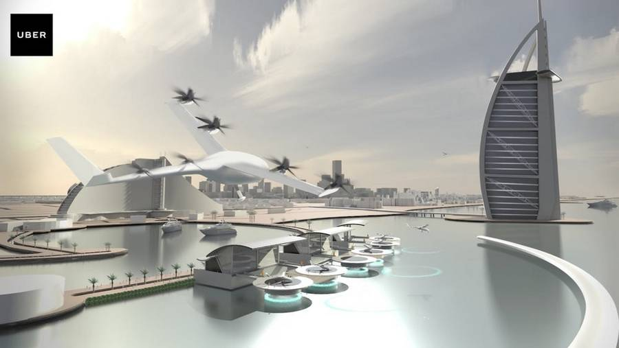 Uber gets NASA to create flying taxis (5)