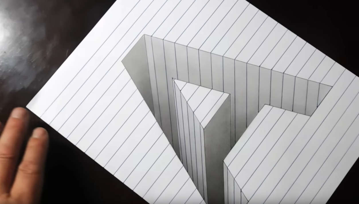 Drawing A Hole in Line Paper
