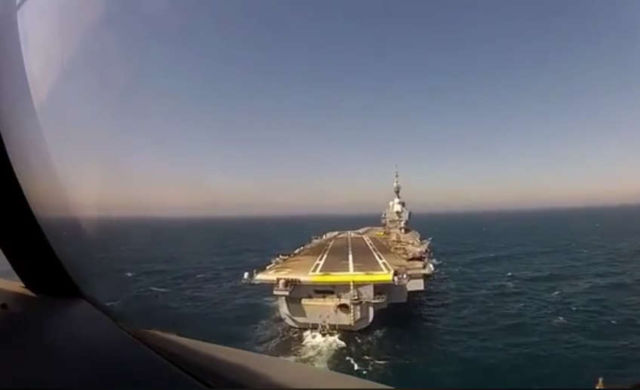 Landing on French Aircraft carrier
