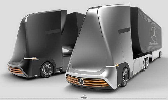 Mercedes-Benz Euro-X semi autonomous truck