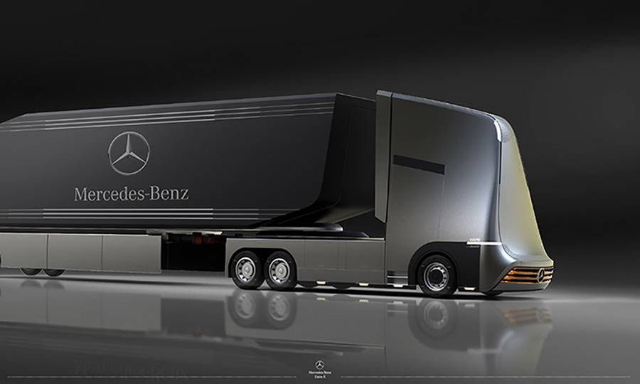 Mercedes benz semi autonomous truck concept wordlesstech for Mercedes benz semi trucks