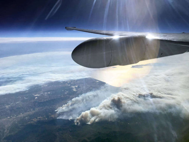 NASA Flies over Thomas Fire in California
