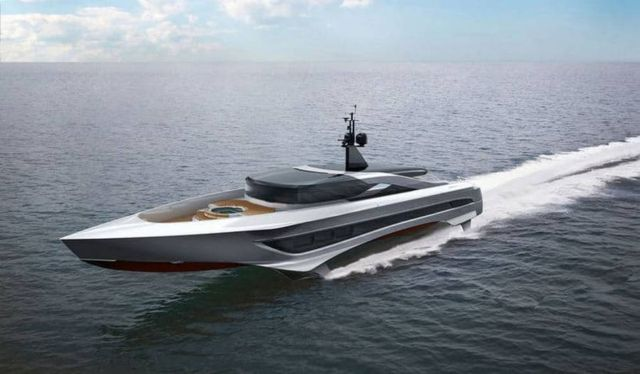 Russian Rocket 37-meter Foiling yacht
