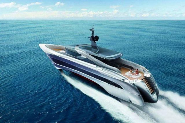 Russian Rocket 37-meter Foiling yacht (4)