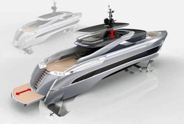 Russian Rocket 37-meter Foiling yacht (3)