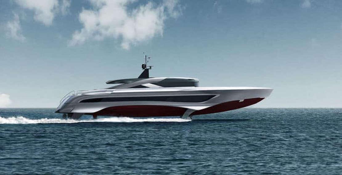 Russian Rocket 37-meter Foiling yacht (1)