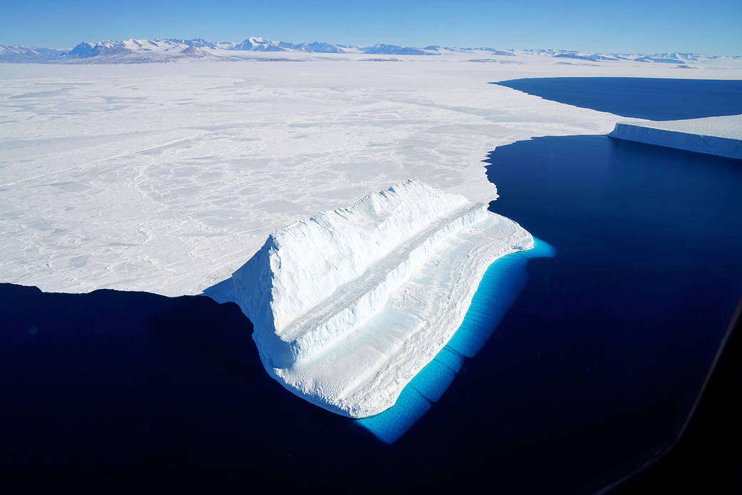 The Bluest of Ice in Antarctica's McMurdo Sound