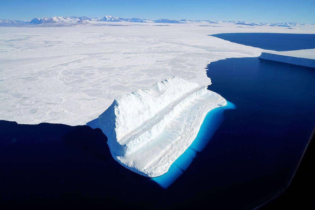 The Bluest of Ice in Antarctica's McMurdo Sound