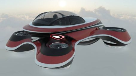 The Hover Coupe Flying car concept (4)
