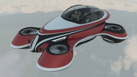 The Hover Coupe Flying car concept (3)