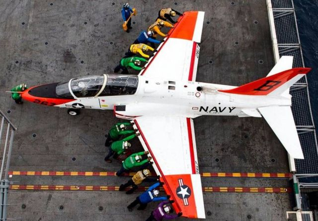 The color-coded uniforms of US Aircraft Carrier Crews